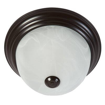 1-Light Flush Mount Ceiling Light Finish: Oil Rubbed Bronze