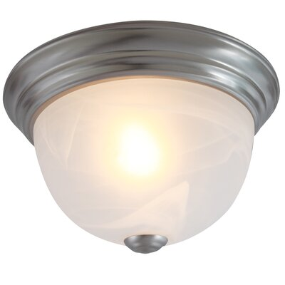 1-Light Flush Mount Ceiling Light Finish: Satin Nickel