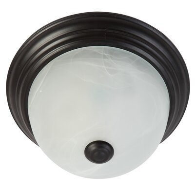 1-Light Flush Mount Ceiling Light Finish: Venetian Bronze