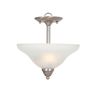 Gibson 2-Light Semi Flush Mount Finish: Satin Nickel