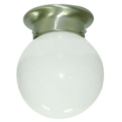 Leslie 1-Light Semi Flush Mount Finish: Satin Nickel