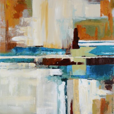 """Revealed Artwork Rhapsody Painting Print on Wrapped Canvas Size: 40"""" x 40"""" DCA025"""