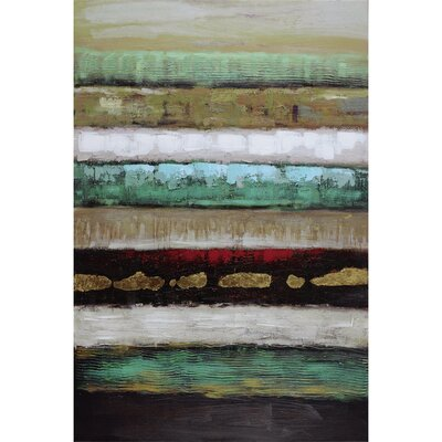 Revealed Artwork Layers I Painting Print on Wrapped Canvas DCA029A