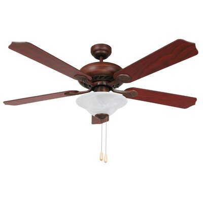 52 Whitney 4 Blade Ceiling Fan Finish: Dark Brown Image
