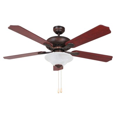 52 Whitney 4 Blade Ceiling Fan Finish: Oil Rubbed Bronze Image