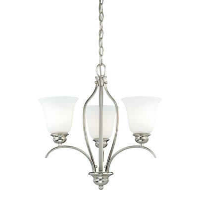 Darby 3-Light Shaded Chandelier Finish: Satin Nickel