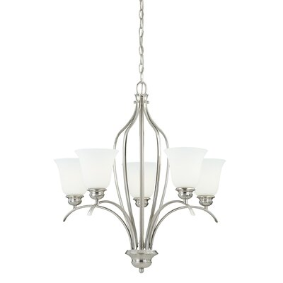 Darby 5-Light Shaded Chandelier Finish: Satin Nickel