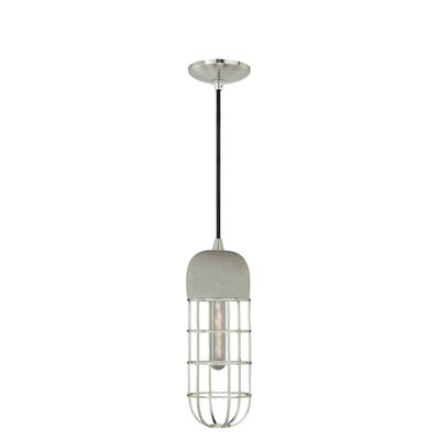 Concrete 1-Light Mini Pendant I Finish: Satin Nickel