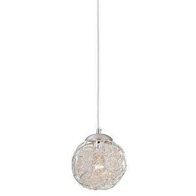 Milano 1-Light Globe Pendant Shade Color: Silver