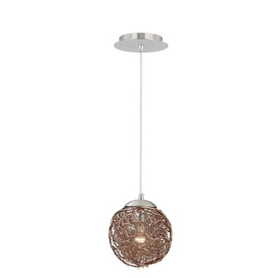 Milano 1-Light Globe Pendant Shade Color: Mocha