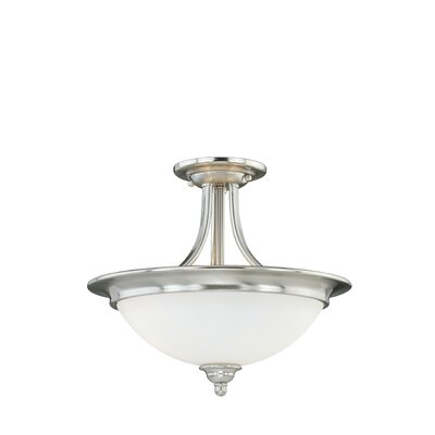 Lorimer 2-Light Semi Flush Mount Finish: Satin Nickel