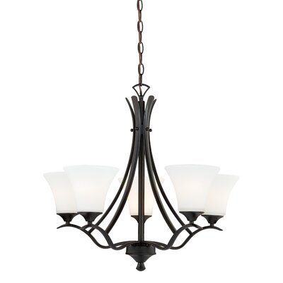 Cordoba 5-Light Shaded Chandelier Finish: Noble Bronze