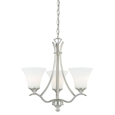 Cordoba 3-Light Shaded Chandelier Finish: Satin Nickel