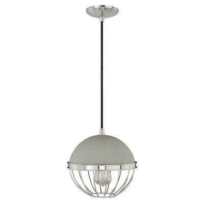 Concrete 1-Light Mini Pendant II Finish: Polished Nickel