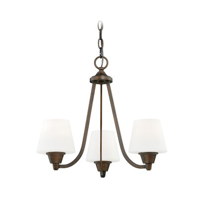 Calais 3-Light Shaded Chandelier Finish: Venetian Bronze