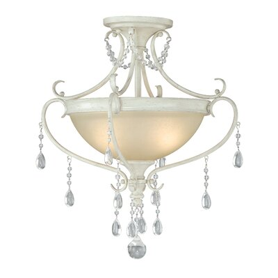 Bristol 2-Light Semi Flush Mount
