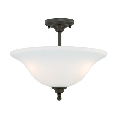 Feder Semi Flush Mount Finish: Oil Rubbed Bronze