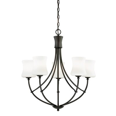 Poirot 5-Light Shaded Chandelier