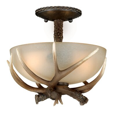 Yoho Semi Light Flush Mount Size: 11 H x 12 W