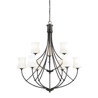 Poirot 9-Light Shaded Chandelier