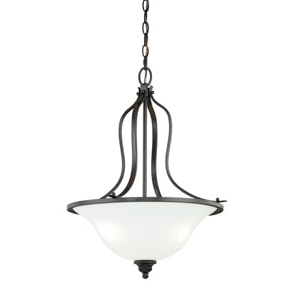 Nicholas 3-Light Inverted Pendant Finish: New Bronze