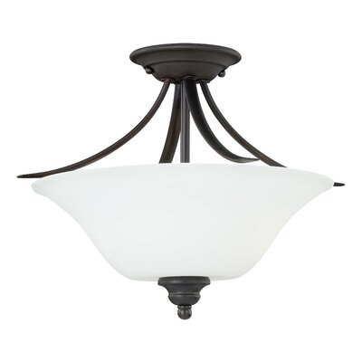 Nicholas 2-Light Semi Flush Mount Finish: New Bronze