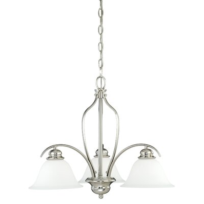 Nicholas 3-Light Shaded Chandelier Finish: Satin Nickel