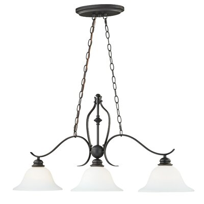 Nicholas 3-Light Island Pendant Finish: New Bronze