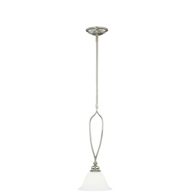 Cordoba 1-Light Mini Pendant Finish: Satin Nickel