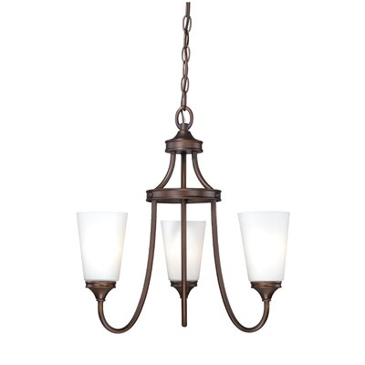 Federico 3-Light Shaded Chandelier Finish: Venetian Bronze