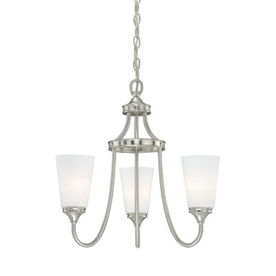 Lorimer 3-Light Shaded Chandelier Finish: Satin Nickel
