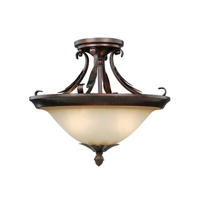 Bruhn 2-Light Semi Flush Mount
