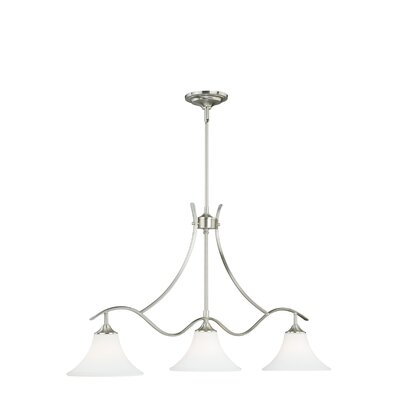 Bruening 3-Light Island Pendant Color: Satin Nickel
