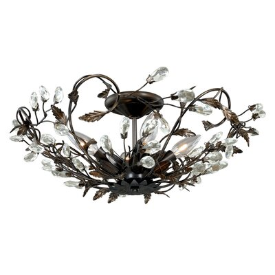 Lehoux 4-Light Semi Flush Mount Finish: Architectural Bronze