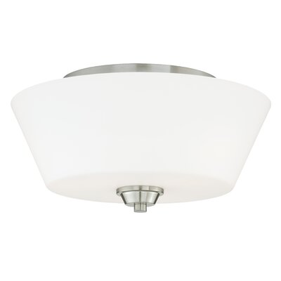 Calais Flush Mount Finish: Satin Nickel