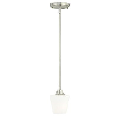 Calais 1-Light Mini Pendant Finish: Satin Nickel