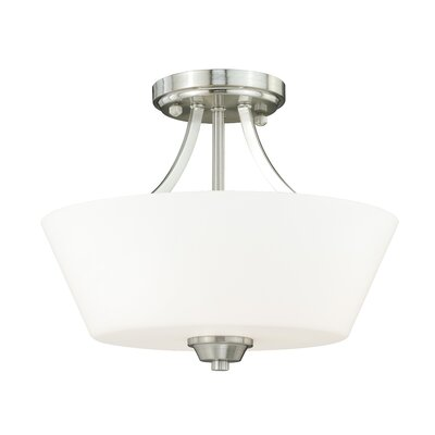Calais Semi Flush Mount Finish: Satin Nickel