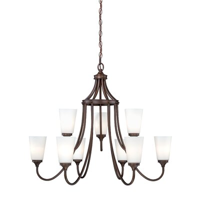 Lorimer 9-Light Shaded Chandelier Finish: Venetian Bronze