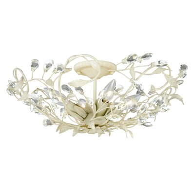 Lehoux 4-Light Semi Flush Mount Finish: French Cream