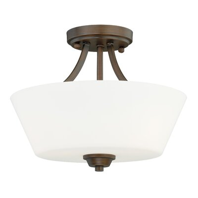Newlon Semi Flush Mount Finish: Venetian Bronze