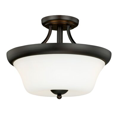 Poirot 2-Light Semi Flush Mount