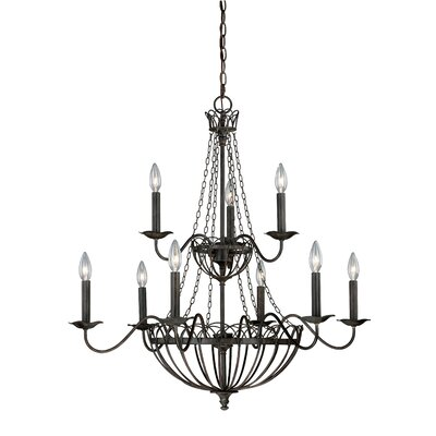 Novara 9-Light Candle-Style Chandelier