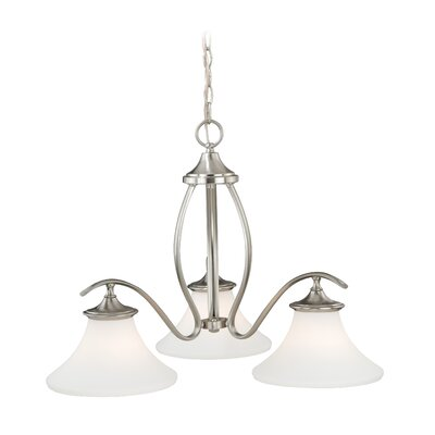 Bryker Woods 3-Light Shaded Chandelier