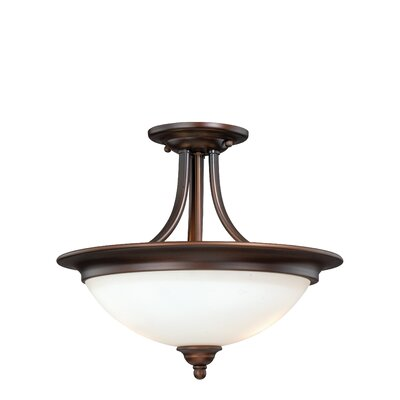 Federico 2-Light Semi Flush Mount Finish: Venetian Bronze