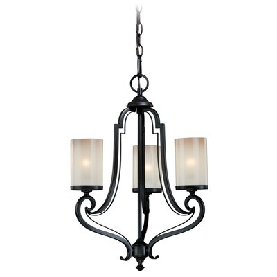 Brumback 3-Light Shaded Chandelier