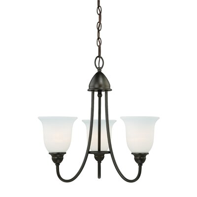 Feder 3-Light Shaded Chandelier Finish: Oil Rubbed Bronze