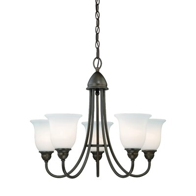 Feder 5-Light Shaded Chandelier Finish: Oil Rubbed Bronze
