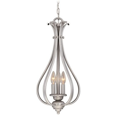 Enfield 3-Light Foyer Pendant Finish: Brushed Nickel