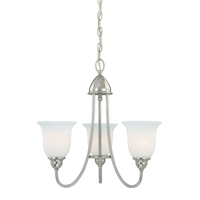 Feder 3-Light Shaded Chandelier Finish: Satin Nickel