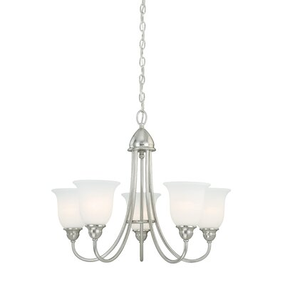 Concord 5-Light Shaded Chandelier Finish: Satin Nickel